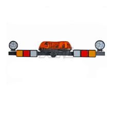 12V LED Mining Light Bar Notwarnsignal Rotierende Bernsteinfarbene Mini-Lampe mit Arbeitslicht