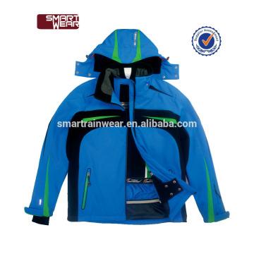 China personalizado por atacado jaqueta de poliéster jaqueta de esqui personalizado homens jaqueta de esqui de neve de inverno