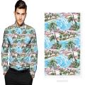 100% algodón satén impreso tela de camisa personalizada digital