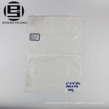 Couleur blanche die cut sac d'emballage pour la promotion