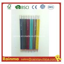 Hexagonal Strip Barrel Holz Bleistift mit hoher Qualität2