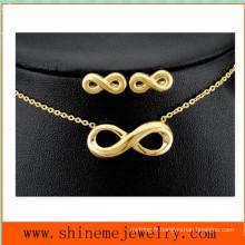 Ensemble de bijoux en acier inoxydable en acier inoxydable à 8 mots en vente à chaud (SSNL2644)
