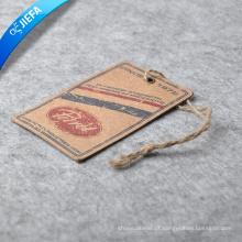 Etiqueta de pendurar papel kraft personalizado / etiqueta de papel oscilante