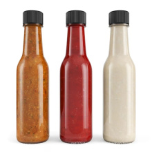 90ml 150ml 5oz empty chili sauce glass bottle with fitment seal plastic cap