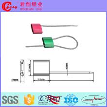 Puxe o fechamento do cabo do selo da ligação do fio da segurança firmemente para a dobra