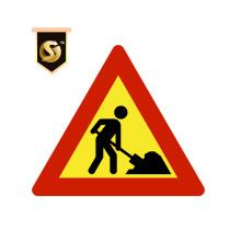 Benutzerdefinierte Verkehrszeichen Post Road Warning Sign Board