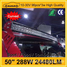 Accessories led 50inch double row curved light bars for atv off road