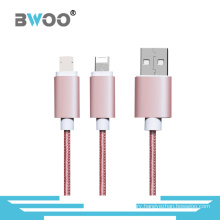 Braided 2 in 1 Micro Lightning Cable for Mobile Phone