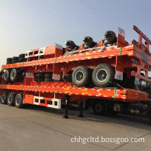 Container Plate Form Semi-Trailer with Fuwa Axles