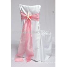 100 % polyester chaise housses, housses de chaise Hotel/Banquet, ceinture d'Organza