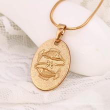 31571-Xuping красивый дизайн двойной рыбы шаблон девушки ожерелье для дамы