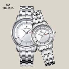 Multifunction Quartz Watch for Couple with Stainless Steel Band 70026