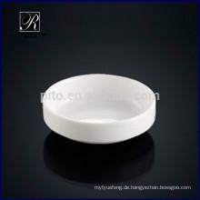 Porzellan runde Soja-Untertasse Gericht Kimchi Untertasse Butter Gericht für Hotelgebrauch