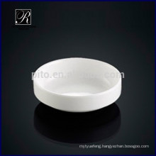 Porcelain round soy saucer dish kimchi saucer butter dish for hotel use