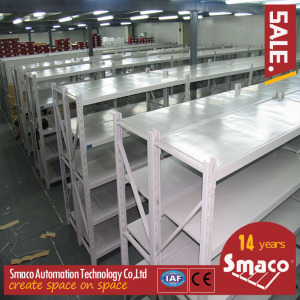 Plywood Deck Longspan Shelving Max 500 Kg Per Level Galvanized Finish Untuk Steel Panel