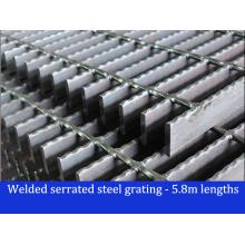 Geschweißte gezahnte Stahlstange Gitter