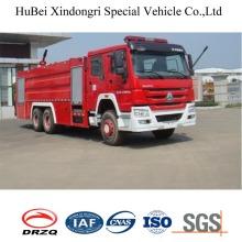 16ton Sinotruk HOWO Tipo de tanque de agua Combustible contra incendios Euro 4