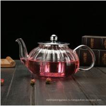 Стеклянный чайник с термостойкостью 650мл New Design Nampkin