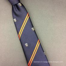 Créez votre propre marque Mens Cravate en gros d'étiquette privée de soie d'impression