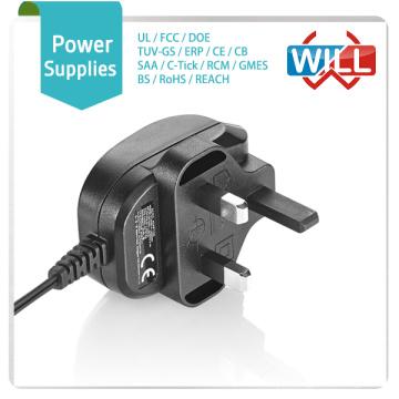 Fábrica Venta al por mayor 17v 24v 1.5a directa plug-in AC UK adaptador de corriente