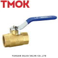 brass color long handle full open brass lengthened ball valve