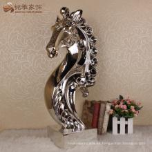 Home decoración resina mesa artesanía cabeza de caballo escultura
