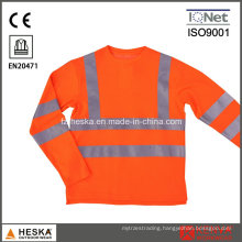 Mens Knitted Safety Hi Vis Long Sleeve Shirt