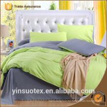 100% poliéster liso doble cama de color al por mayor establece la hoja