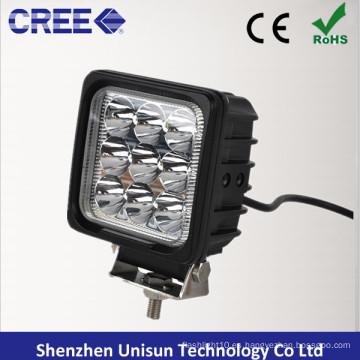 """4 """"12V-24V 27W 9X3w CREE Luz azul del punto del tractor del LED"""