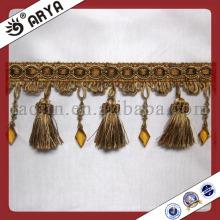 Frange de perles en perles à rideaux pour décoration à la maison