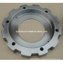 Kundengebundener Stahl geschmiedeter Flansch mit CNC-Bearbeitung