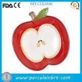 Decorative Apple Shaped Ceramic Print Plate
