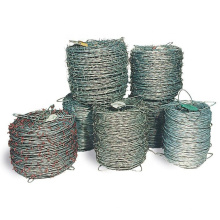 Military grade hot dipped 14 gauge galvanized single twist price barbed wire 5mm  500 meters