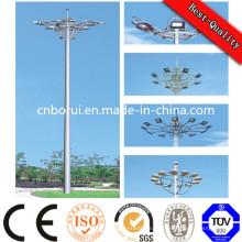 Stadion 01, das hohen Mast-Lichtmast beleuchtet, Stahlmast-Lichtmast mit Aufzug-System