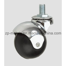 1.6inch Rubber Screw Ball Caster Wheel