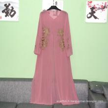 Abaya Type de vêtement et femme manches longues manches longues maxi robe simple femme abaya