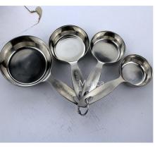 Cuillère et tasse en acier inoxydable 18/8 1 1/2 1/3 1/4 tasse
