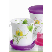250cc ceramic mug with silicone covers mug