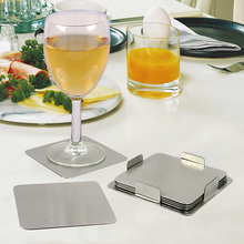 6pcs coasters with holder