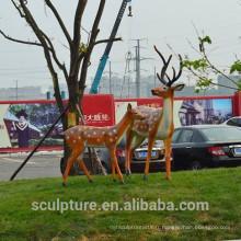 Sculpture en cuivre / bronze statues de sculpture animales telles que cerf, lapin, écureuil