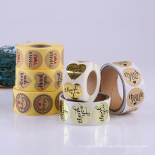 Rolo barato que imprime o logotipo que cortou etiquetas de empacotamento de papel impressas personalizadas personalizadas etiquetas da etiqueta
