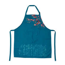 2018 KEFEI Fashion Funny Printed Blue Apron Designs