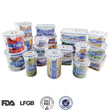 Recipiente de comida de plástico de microondas