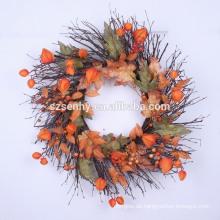 """24 """"Mixed Burlap Sonnenblume / Beeren Kranz"""