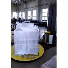 Machine d'emballage automatique de palettes avec film coupé