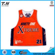 Jerseys de encargo baratos al por mayor de Lacrosse de la sublimación