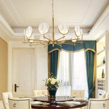 2020 living room Victorian gold led large chandelier pendant lights