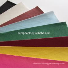 2015 hochwertige ausgefallene Papier Beflockung Aufkleber mit Flock-Einlage