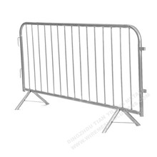 Galvanized Security Mobile Crowd Control Pedestrian Barrier