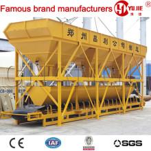 Máquina dosificadora de hormigón PLD1600-3, Contenedores de agregados, Sistema de dosificación de agregados, Sistema de pesaje de agregados